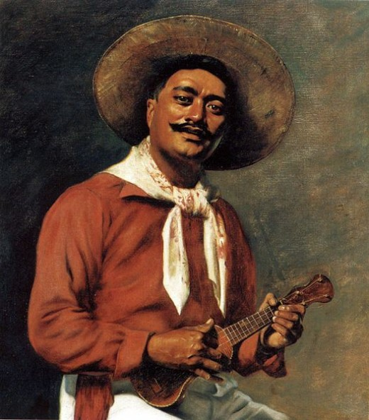 Kolomona: Hawaiian Troubadour, 1898, Hubert Vos, Arts of Hawai'i exhibit