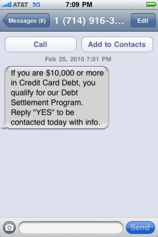"This is an example of a spam message that ask you to reply. Once you reply your number will be tagged as ""live""."