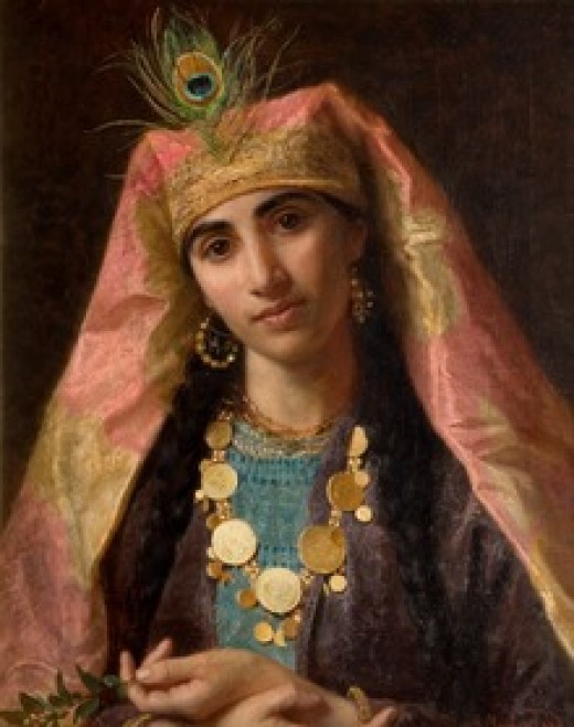 Queen Scheherazade as painted in the 19th century by Sophie Anderson.