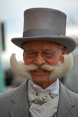 A cheesy grin and a great moustache -Karl Heinz-Hillie, proud former winner of the 'Partial Beard' category
