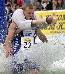 Estonian champions at the World Wife Carrying Competition in Finland
