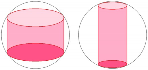 There are an infinite number of cylinders that can be inscribed within a sphere.  Only one set of dimensions yields the maximal volume.