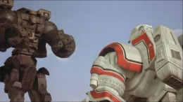 Robot Jox is an old stop-motion mech vs mech B-movie. Loved the hell of it as a kid. Del Toro is paying homage to just this sort of thing.