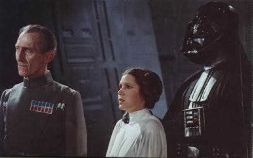 Leia sports an accent in several scenes of the original Star Wars. And why exactly are almost all Imperials British? Even great movies have silly things about them.