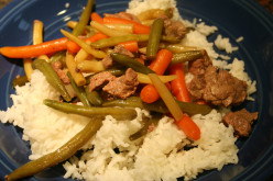 Whole bean and beef stir fry