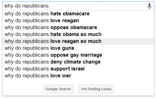 "– Love Reagan – I like thinking this is because Democrats keep thinking ""What's up with loving Reagan so much?  He's not that great…  Let's ask Google what's up!"""