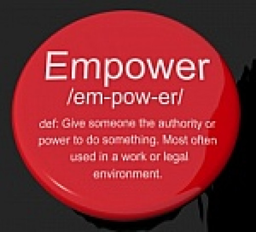 Empowerment is the process  of increasing the capacity of individuals or groups to make choices and to transform those choices into desired actions and outcomes. Credit:  http://web.worldbank.org