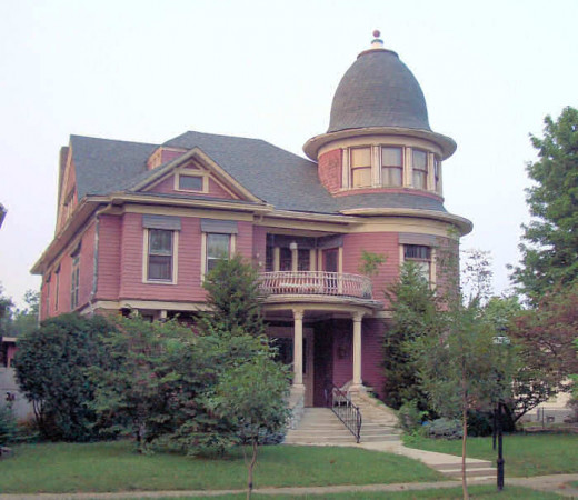 The Queen Anne style Jefferey Ferris House was built in 1896