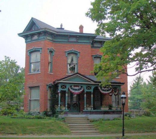 The Italianate style Albert C. Davis Home dates back to 1879