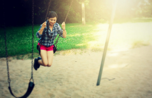 A happy mood with the swing.