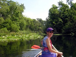 Canoing at Wekiva River State Preserve.