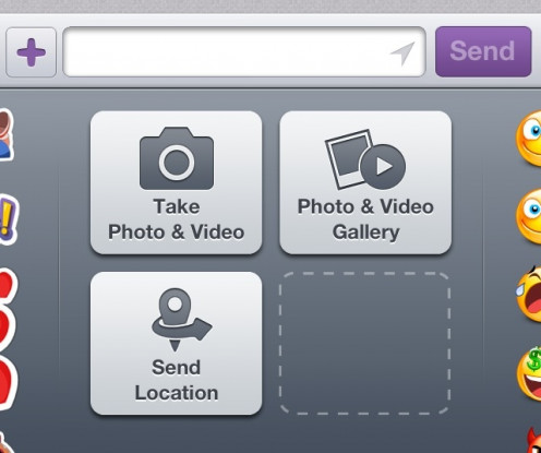 Add a photo or video to your text