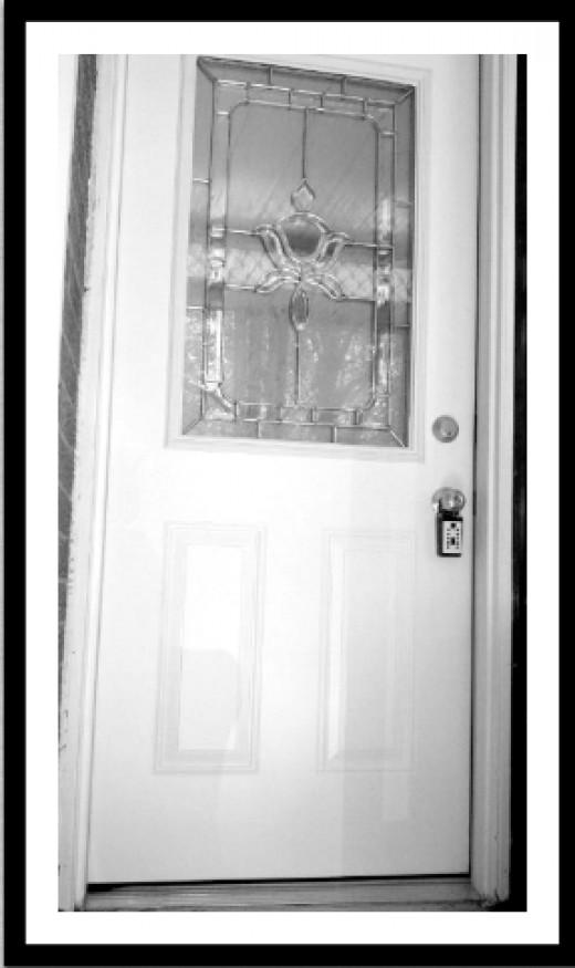 White Framed Door
