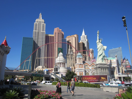 New York New York Resort and Casino on Las Vegas Strip a block and a half walk from the Desert Rose Resort
