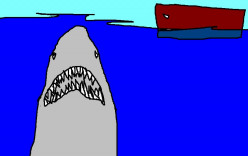 The film Jaws scared the hell out of the American public and put even harmless sharks on the endangered list.