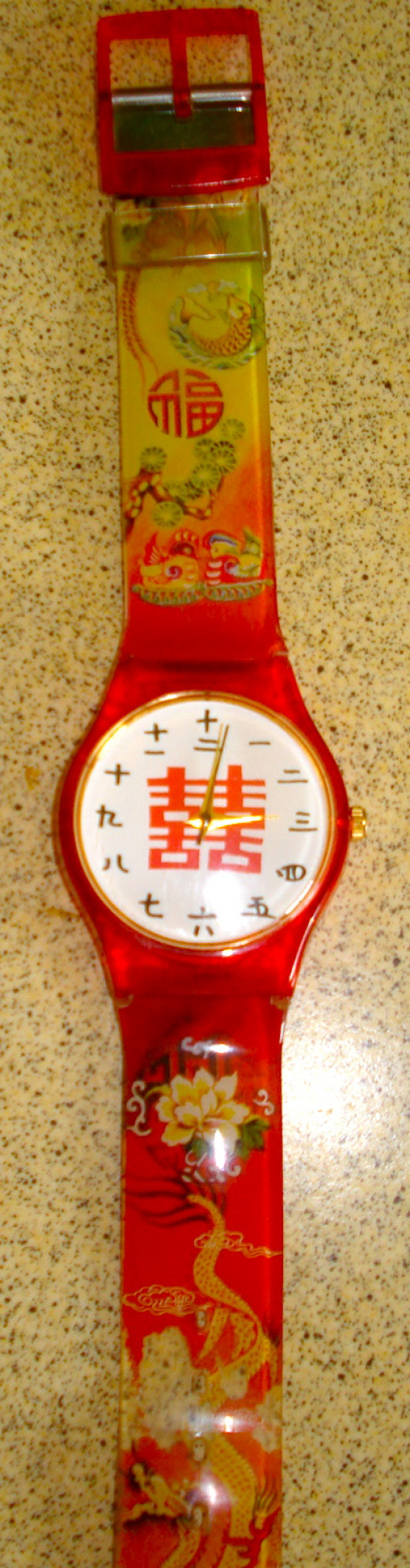Chinese Battery Watch with Chinese Numerals