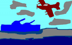 During both the First and 2nd world War battles at sea involved airplanes.