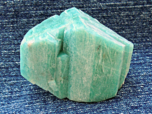 A piece of Amazonite.