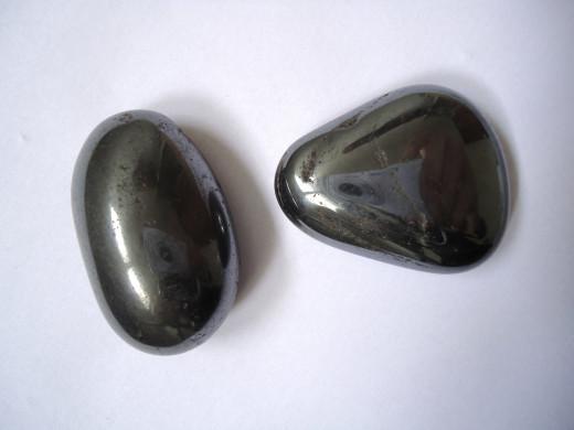 Hematite tumblestones.