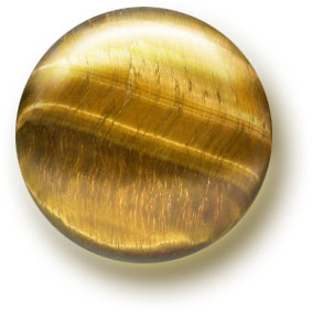 A tiger's eye cabochon.