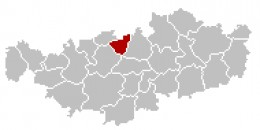 Map location of Rixensart municipality in Walloon Brabant
