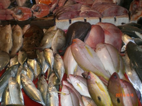 Visit to the Market | Fresh varieties of fish lined up at a wet market very early in the morning.  It is always an opportunity to learn for cooks and chefs alike. It is also a memory exercise to remember their names, and still have them mismatched.