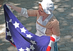 The well-known and loved story of Betsy Ross sewing the first Stars & Stripes is tightly woven into the colorful fabric of America's rich history.  The Betsy Ross House, the birthplace of the American flag, is alive with the sights and sounds of the