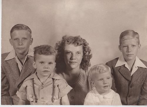 Mom and her brothers (personal photos)
