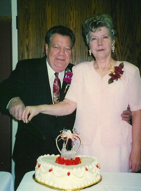 Mom and Dad on their 50th Wedding Anniversary celebration in Orem, Utah (personal photo)