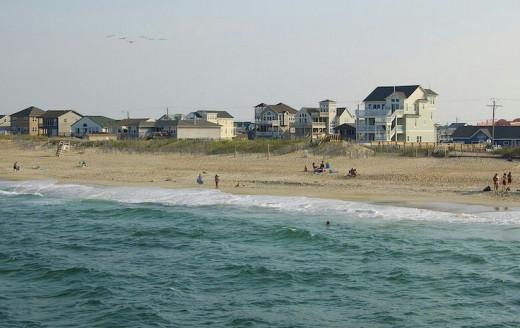 Nags Head beach, Outer Banks, NC