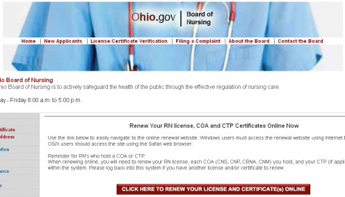The Ohio Nursing Board will keep you from getting bored.
