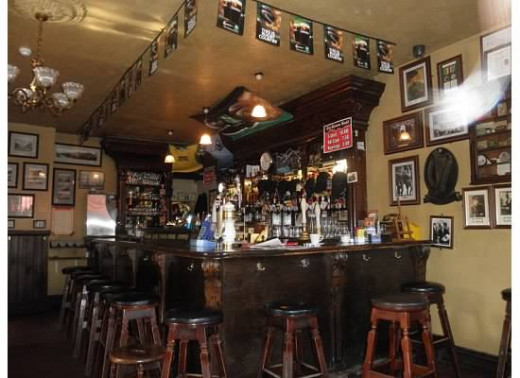 Interior of the main bar area of the pub.