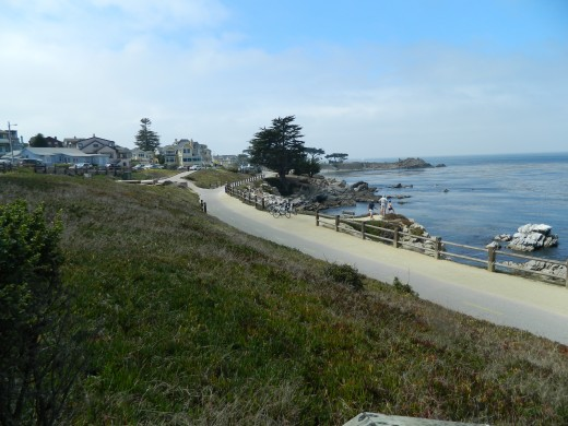 Walkway along the beach in Pacific Grove.