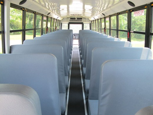 The interior of a bus should always be kept clean that also shows that you care about your customers.