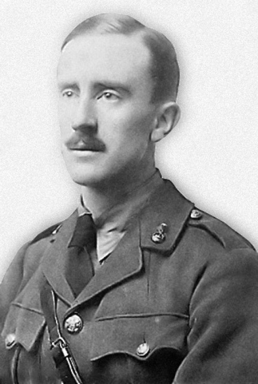 J.R.R. Tolkien in 1916, at age 24.