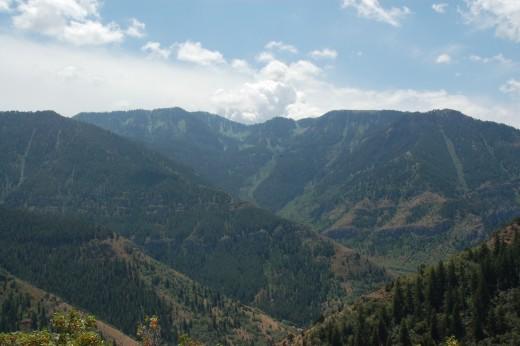 Uinta-Wasatch-Cache National Forest, Mount Naomi Wilderness, Wellsville Mountains, Wind Cave Trail