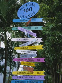 Signpost: Bahamas 700 Islands