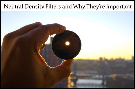 Neutral density filters are a powerful tool to help control the aperture and exposure.