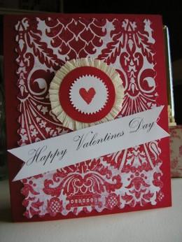 a great example of a homemade card from the http://vintagepretties.typepad.com blog.