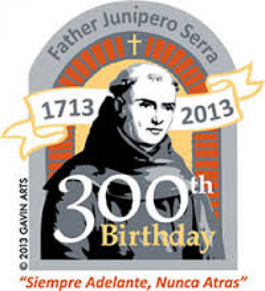 Father Junipero Serra is 300 this year! Sadly, no one expects him or the white deer to party.