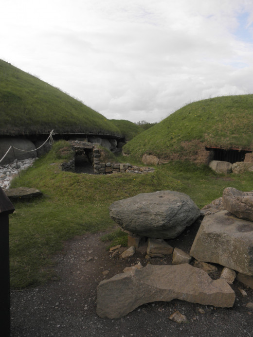 Entrances to a couple mounds.