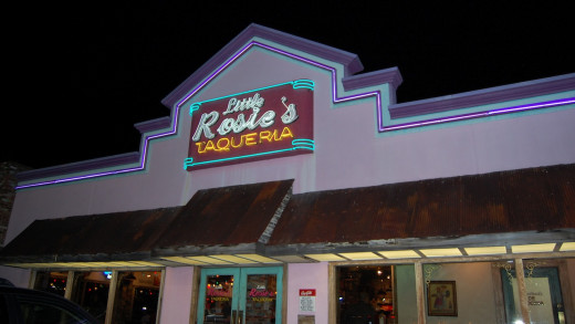 Little Rosie's Taqueria at night -Huntsville AL