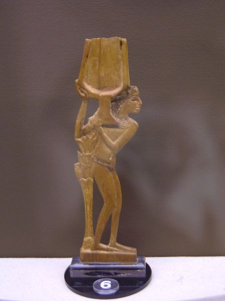 Wooden spoon used for holding make-up by the Egyptians