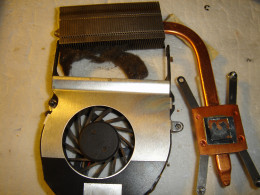 Fan clogged with dust before clean up.
