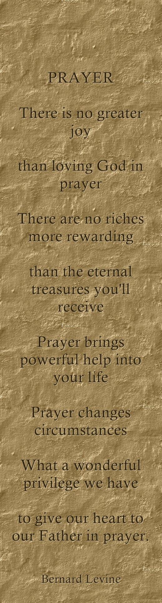 Prayer By Bernard Levine