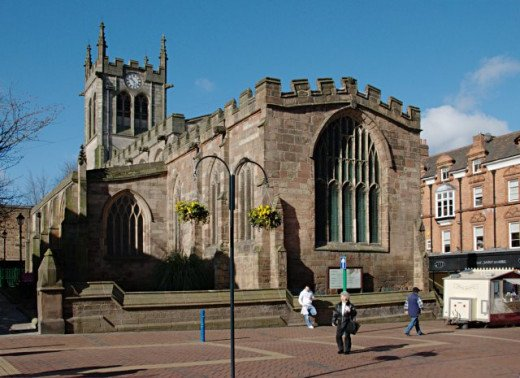 St. Peter's Church, Derby where Joan Waste and her family attended service