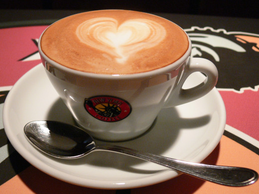 Lovely and delicious isn't it? Coffee has high caffeine which keeps you alert.