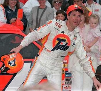 Tide was on the car when DW finally broke through and won the Daytona 500... and performed the epic Ickey Shuffle post-race