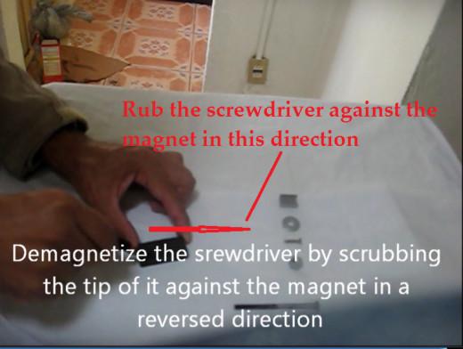Demagnetizing a Screwdriver