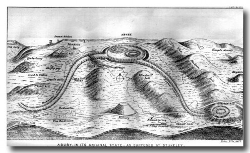 stukeley's imagining of avebury as it was in a completed state